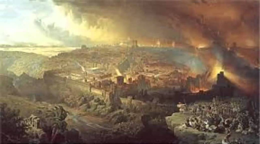 The siege of Jerusalem in seventy AD
