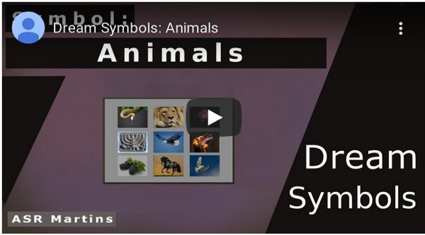 The ASR Martins Dreams Symbols YouTube image