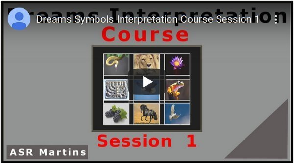 The ASR Martins Dreams and Visions Interpretation Course YouTube image